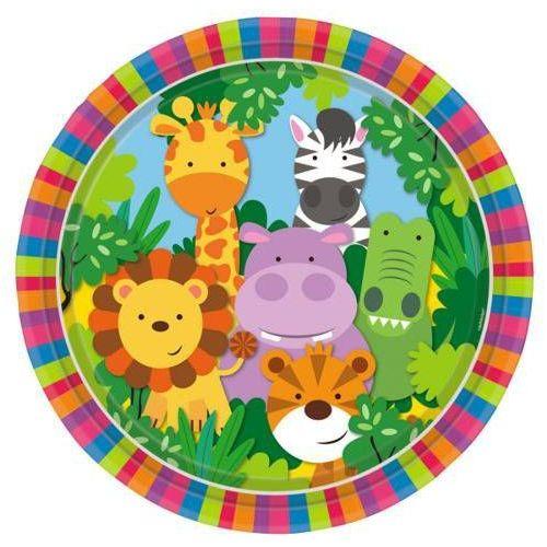 Talerzyki urodzinowe Party w Dżungli - 23 cm - 8 szt. (0013051735715)