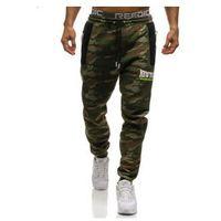 Spodnie męskie dresowe joggery multikolor denley 3781a marki Crws dnm