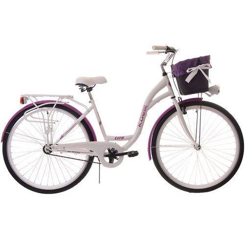 KOZBIKE (K15/28) Rower miejski damski Kozbike 28 biało-fioletowy