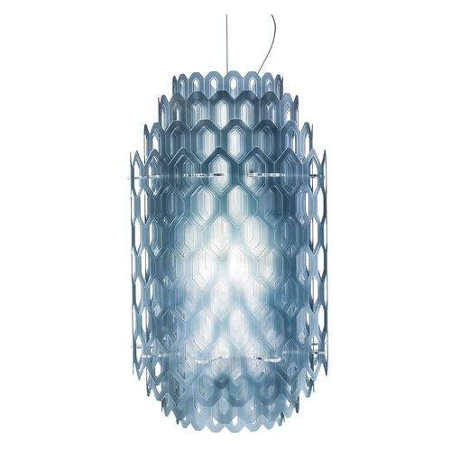Designerska lampa wisząca led chantal, niebieska marki Slamp
