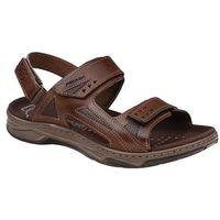 Brazylijskie sandały 132207-02 pinhao brązowe - brązowy, Pegada