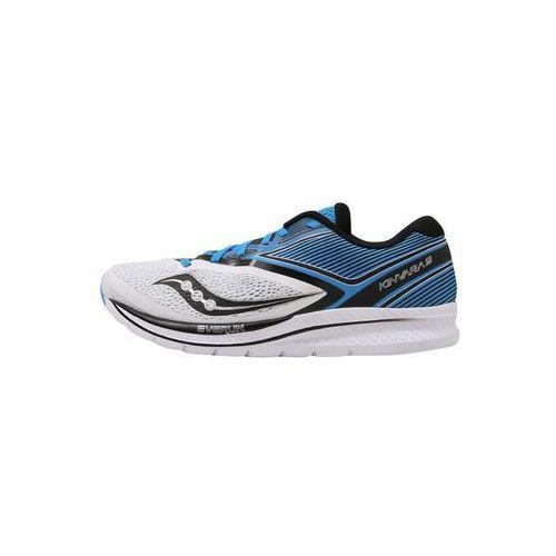 Saucony KINVARA 9 Obuwie do biegania treningowe white/blue/black, kolor niebieski