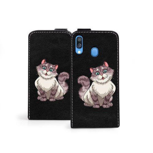 Etuo flip fantastic Samsung galaxy a40 - etui na telefon flip fantastic - bajkowy kot