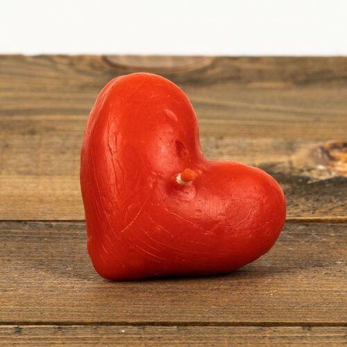 Świeca woskowa serce pływające czerwone (15 mm / 45 mm) Łysoń (5906660820024)