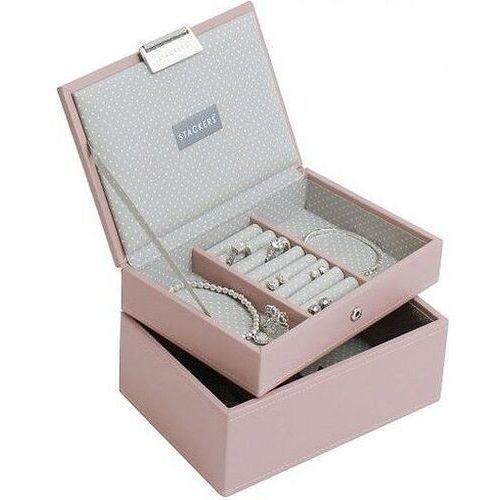 Stackers Szkatułka na biżuterię podwójna mini różowa