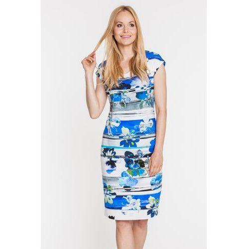 Sukienka w niebieskie kwiaty - Vito Vergelis, 1 rozmiar