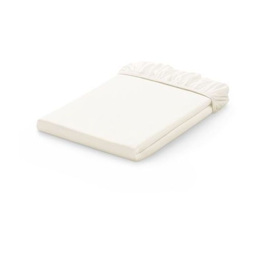 prześcieradło jersey bawełniane z gumką do łóżeczka 60x120 - ecru marki Mamo-tato