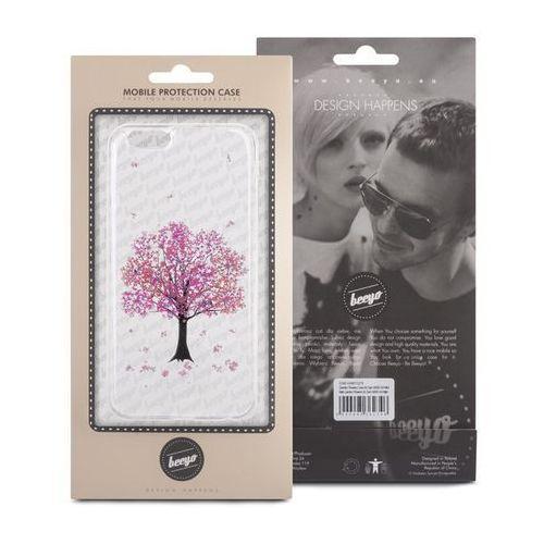 Telforceone Silikonowa nakładka etui beeyo blossom do iphone 5/5s transparentna + różowa