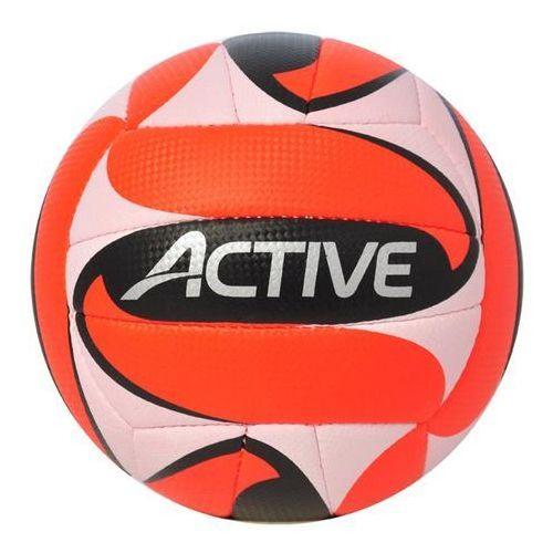 Axer Sport, Active, piłka siatkowa, biało-pomarańczowo-czarna, rozmiar 5
