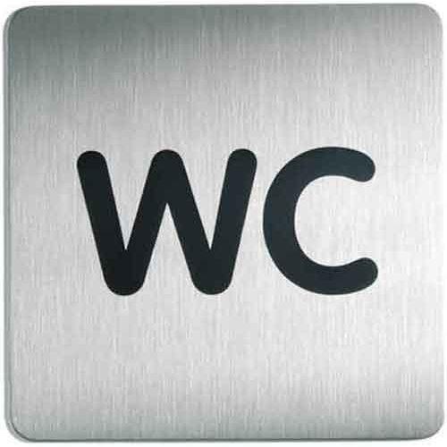 Oznaczenie toalet metalowe kwadratowe - WC (4005546403380)