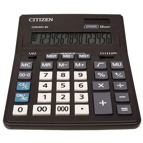 Kalkulator biurowy CITIZEN CDB1601-BK Business Line, 16-cyfrowy, 205x155mm, czarny, CDC-80WB