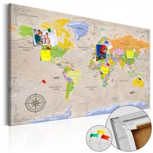 Obraz na korku - Maps: Vintage Style [Mapa korkowa], A0-Pinnwand607 (7809794)