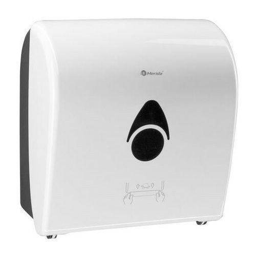 Mechaniczny podajnik ręczników papierowych w roli Merida Como Automatic - biały