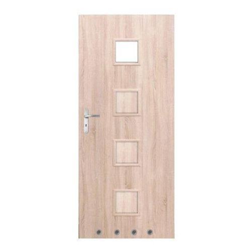 Drzwi z tulejami Clara 70 prawe dąb sonoma