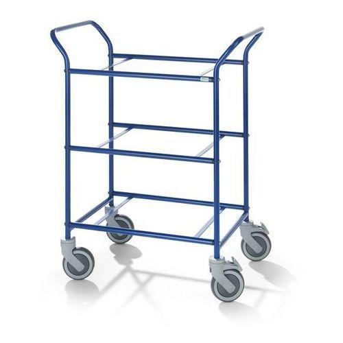 Wózek serwisowy, do zdejmowanych skrzynek, kolor szkieletu: niebieski. Nośność 1