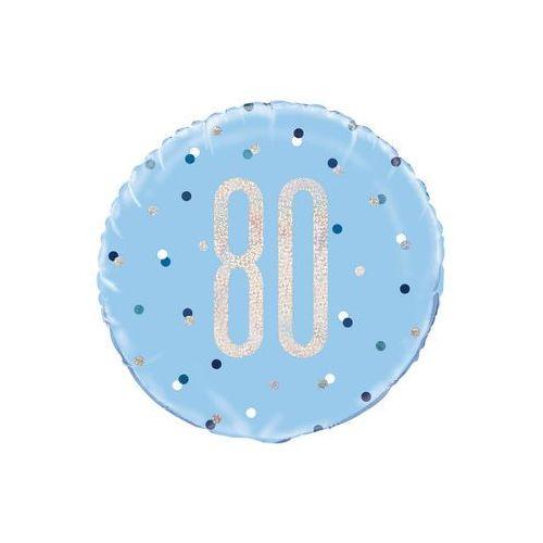 Unique Balon foliowy niebieski - 80 - 46 cm - 1 szt.