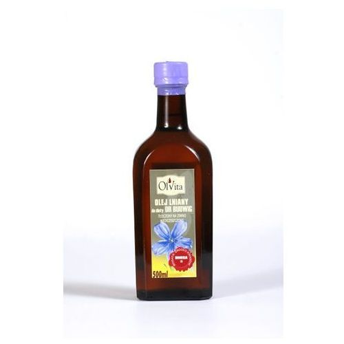 Olej lniany do diety dr Budwig tłoczony na zimno, nieoczyszczony 250ml - Olvita