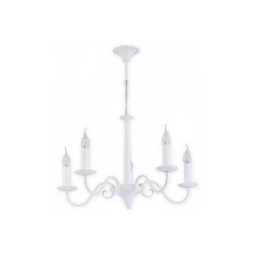 Lemir Asti O2895 W5 Bia lampa wisząca zwis 5X60W E14 biały matowy (5907176575200)