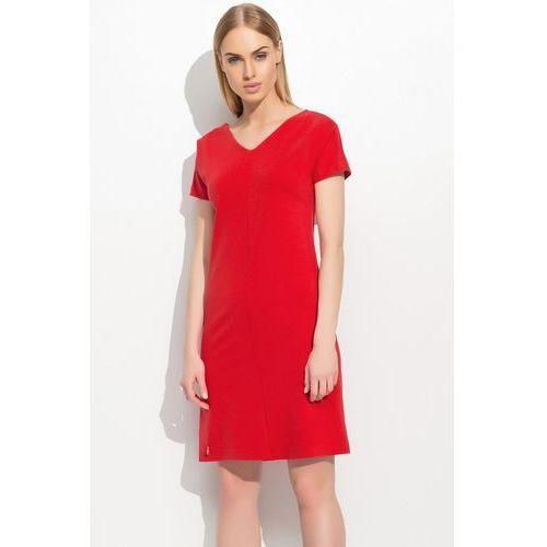 Sukienka model m307 red, Makadamia