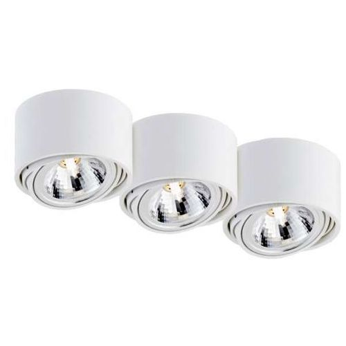Spot LAMPA halogen LUMOS 3 70253301 Kaspa regulowana OPRAWA sufitowa natynkowa metalowy biały, kolor biały
