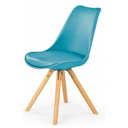 Krzesło w stylu skandynawskim Depare - turkusowe, kolor niebieski