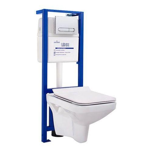 Zestaw podtynkowy wc naxos rimless z deską wolnoopadającą marki Cersanit
