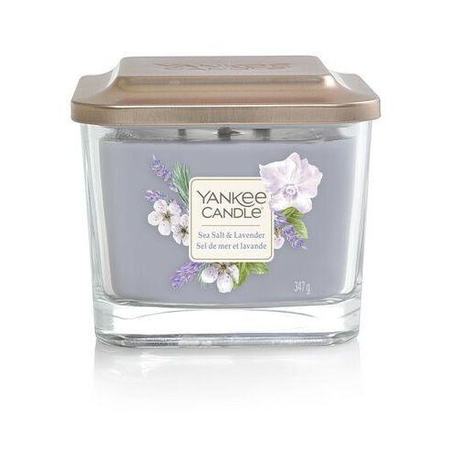 Yankee candle Średnia kwadratowa świeca z trzema knotami sea salt & lavender