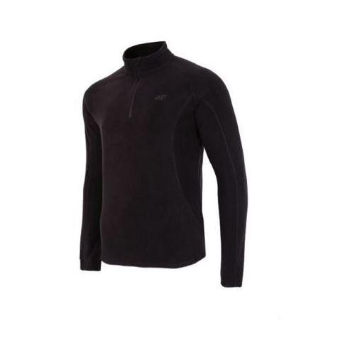 4f Bluza męska polarowa bimp001 - głęboka czerń