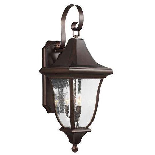 Zewnętrzna LAMPA ścienna OAKMONT FE/OAKMONT2/L Elstead FEISS elewacyjna OPRAWA klasyczny kinkiet outdoor IP44 brązowa patyna, FE/OAKMONT2/L