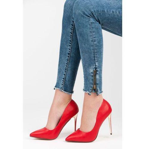 Klasyczne szpilki damskie - odcienie czerwieni, Via giulia