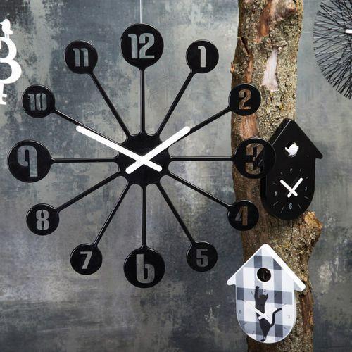 Zegar ścienny Pinball biały (4002942273982)