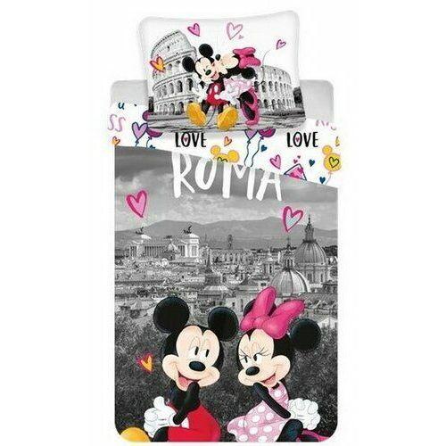Jerry Fabrics Pościel bawełniana Mickey and Minnie in Rome, 140 x 200 cm, 70 x 90 cm (8592753018897)