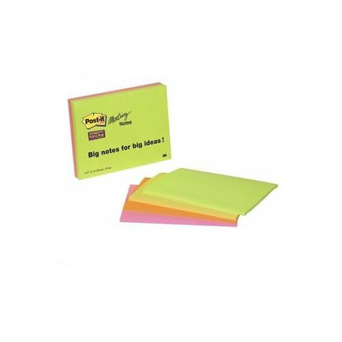 POST-IT Bloczek SUPER STICKY MEETING NOTES 6845-SSP, 200 x149mm, 4 kolory