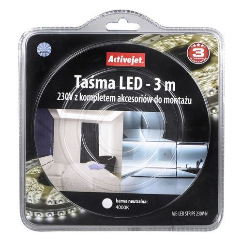Taśma LED ACTIVEJET AJE-LED STRIPE 3m (5901443105138)