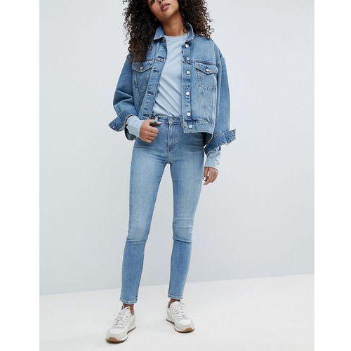 thursday high waist skinny jeans - blue marki Weekday