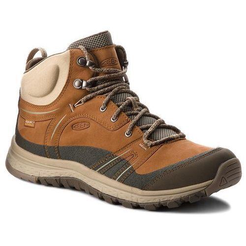 Trekkingi - terradora leather mid wp 1017752 timber/cornstalk marki Keen