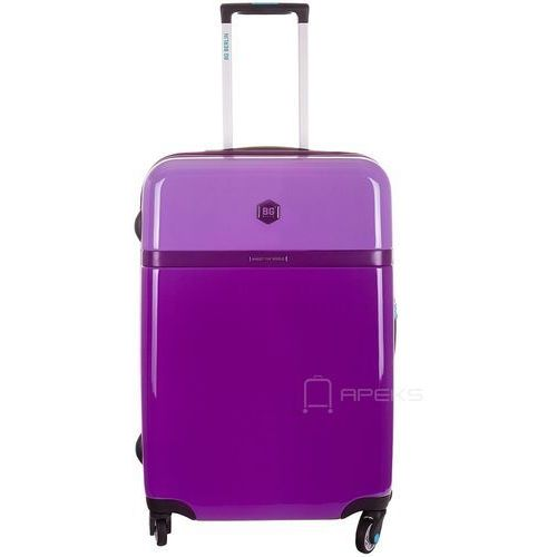 tri colors walizka lekka średnia podróżna 65 cm / purple bloom - purple bloom marki Bg berlin