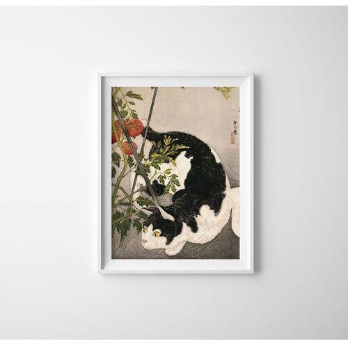 Plakat do pokoju plakat do pokoju kot krąży wokół pomidora takahashi shotei marki Vintageposteria.pl