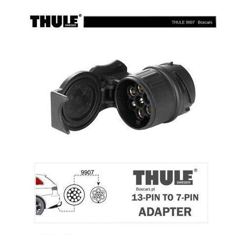 Thule Miniadapter 9907 do podłączenia wtyczki 7-bolcowej do gniazda 13-stykowego czarny 2018 Akcesoria do bagażników
