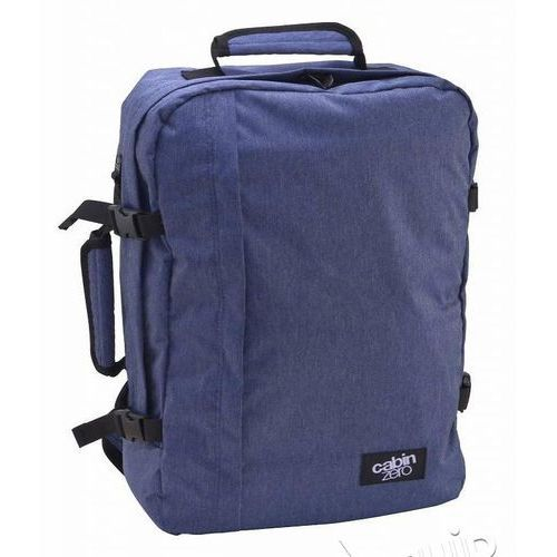 Plecak torba podręczna CabinZero + pokrowiec organizer gratis - blue jean, kolor niebieski