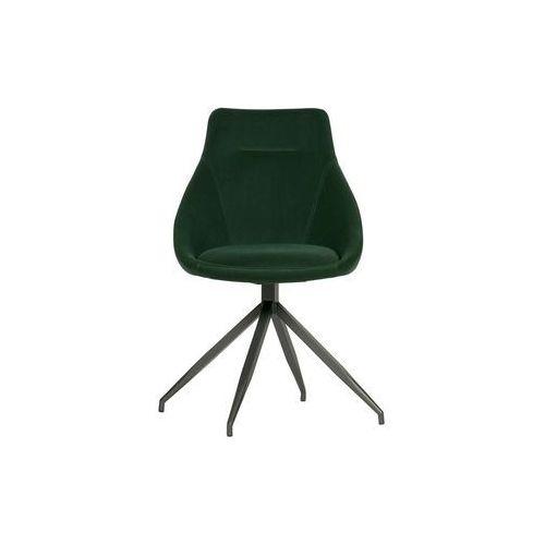 Woood zestaw 2 krzeseł resa velvet zielone 373793-f