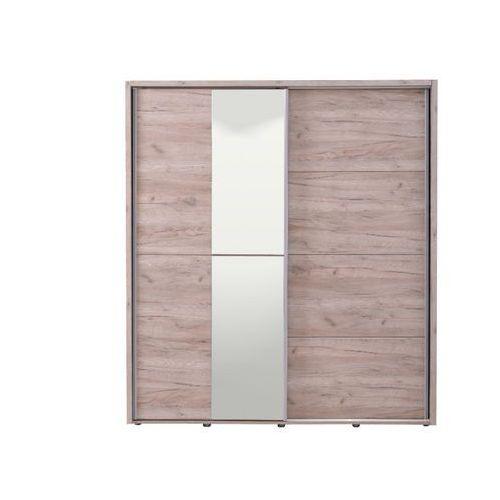 Szafa galina – 2 pary drzwi przesuwnych – z lustrem – dł. 184 cm – dąb marki Vente-unique