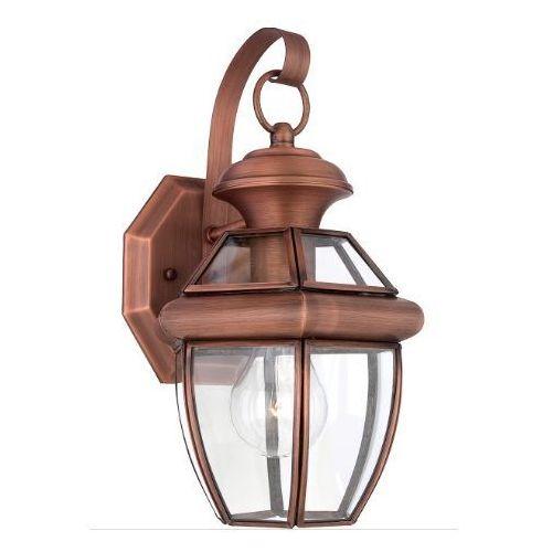 Feiss Zewnętrzna lampa stojąca oakmont fe/oakmont3/m elstead ogrodowa oprawa latarenka tarasowa outdoor ip44 brązowa patyna (5024005325314)