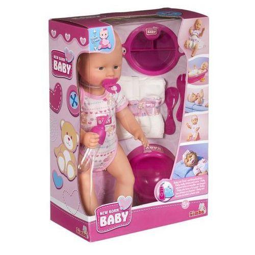 Simba Lalka new born baby - bobas z akcesoriami, 38 cm (4006592525330)