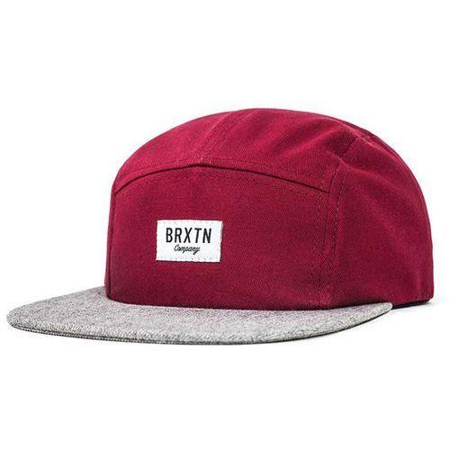czapka z daszkiem BRIXTON - Hoover Burgundy/Light Heather Grey (0755) rozmiar: OS