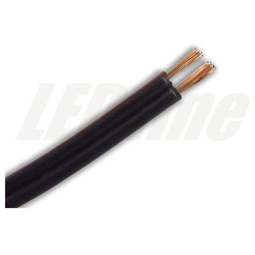 Przewód smyp do montażu taśm led czarny smyp2x0,35-b - przewód 2 żyłowy czarny marki Ledin