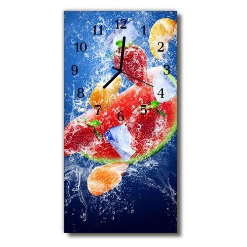 Zegar Szklany Pionowy Kuchnia Owoc obraz nadruk kolorowy