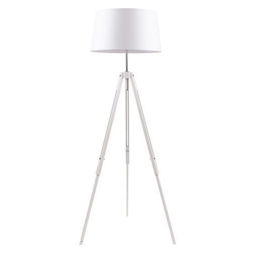 Spot light Lampa podłogowa  tripod biała do salonu