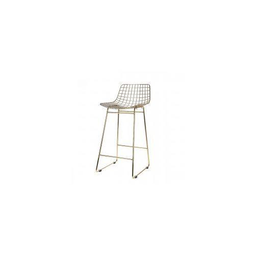 Mosiężny stołek barowy WIRE - HK Living, MZM4619