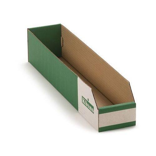 Skrzynki regałowe z kartonu, składane, opak. 50 szt., dł. x szer. x wys. 500x100 marki K bins limited